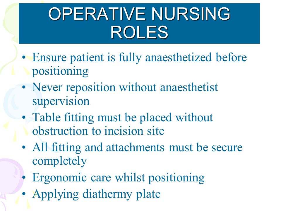 OPERATIVE NURSING ROLES