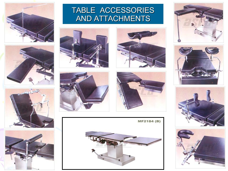 TABLE ACCESSORIES AND ATTACHMENTS