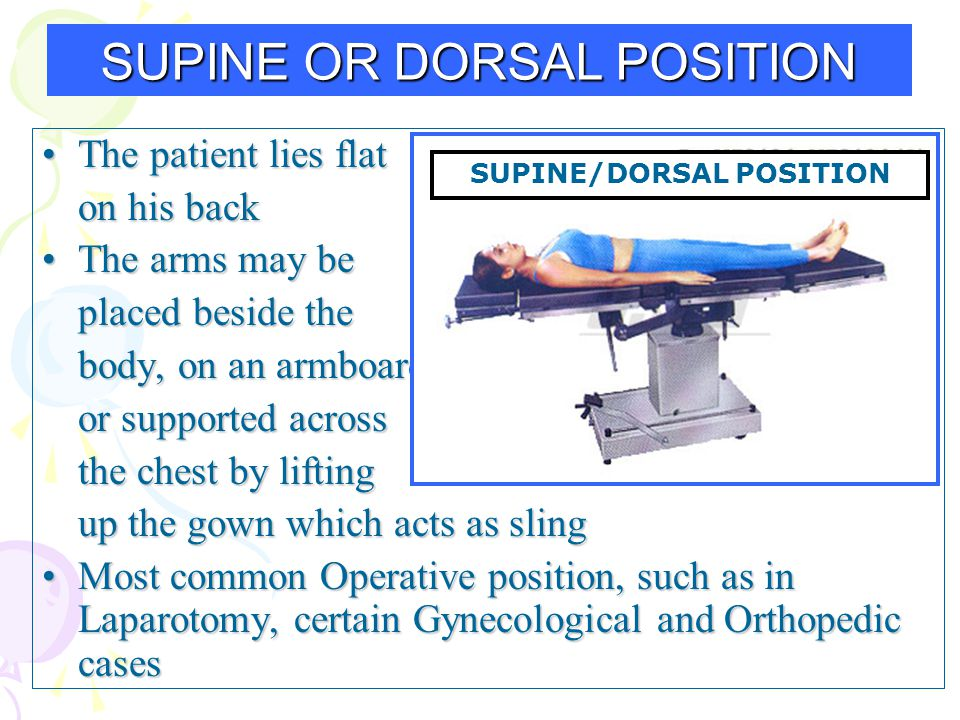 SUPINE OR DORSAL POSITION