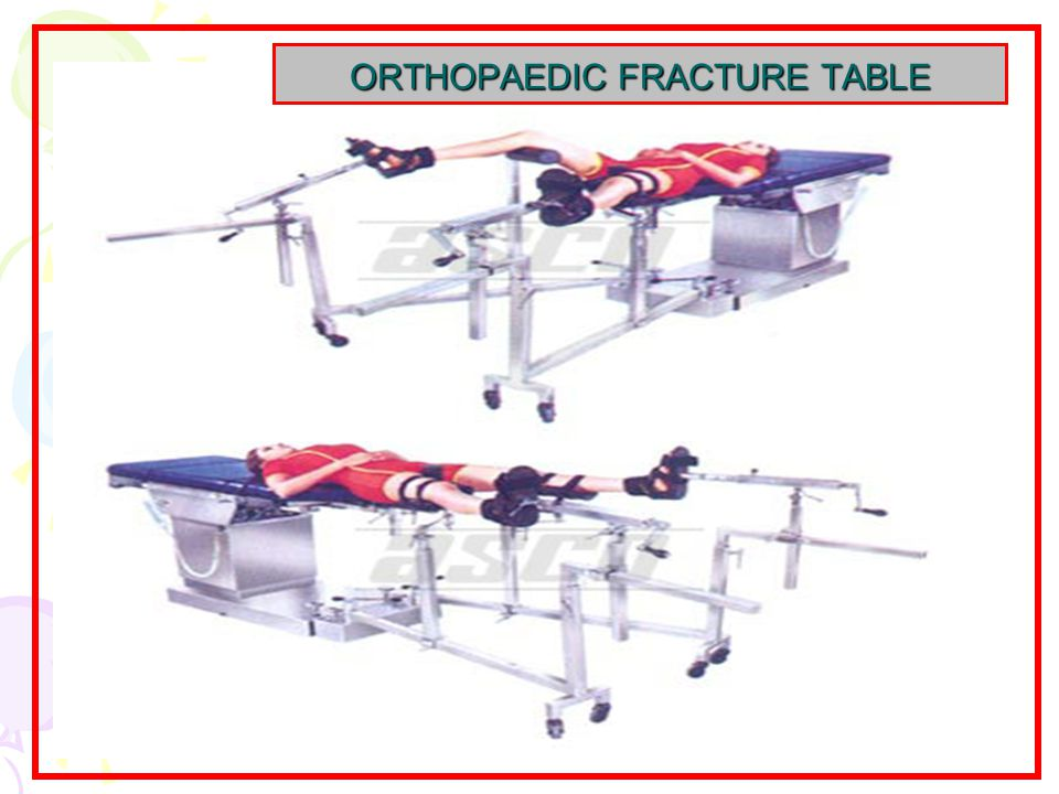 ORTHOPAEDIC FRACTURE TABLE