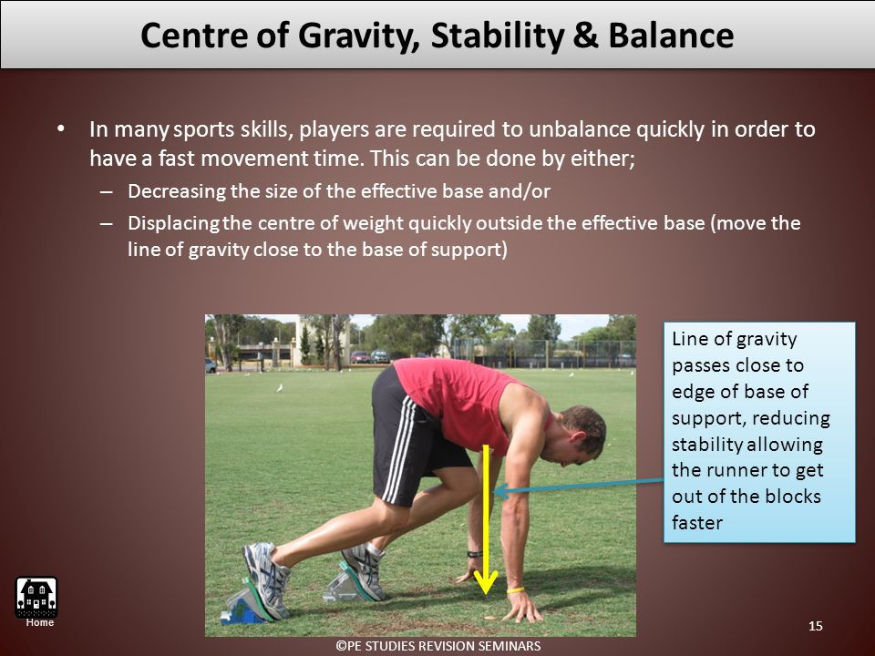 Centre of Gravity, Stability & Balance