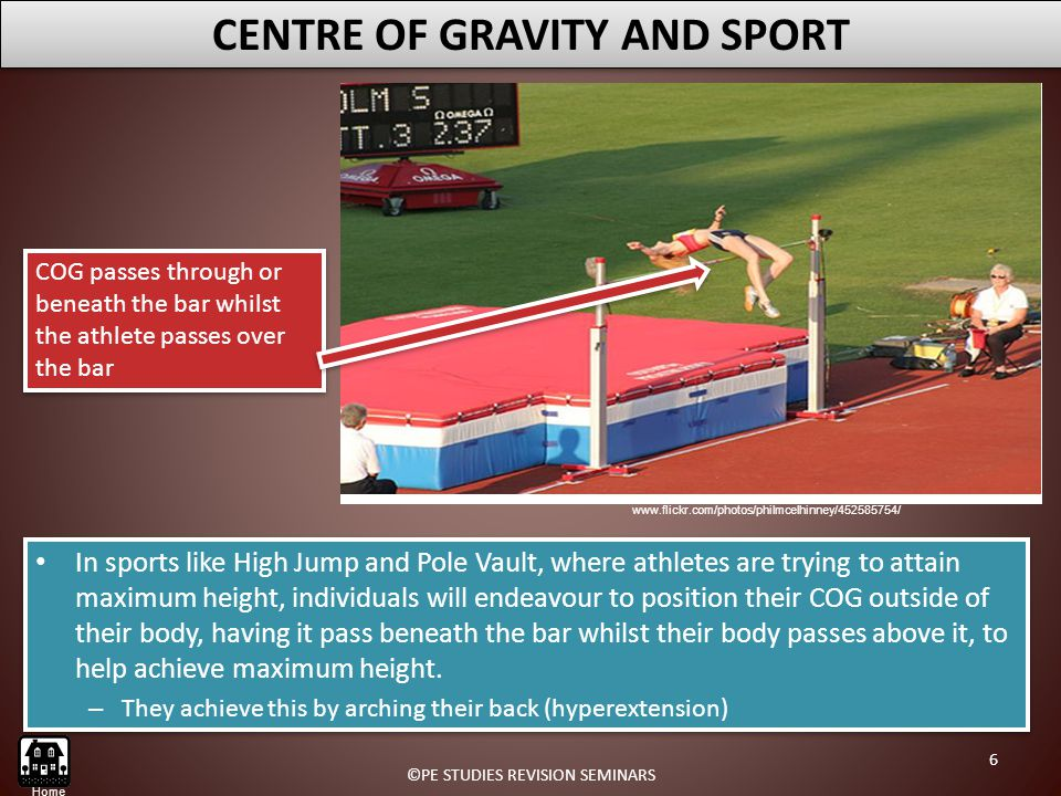 CENTRE OF GRAVITY AND SPORT