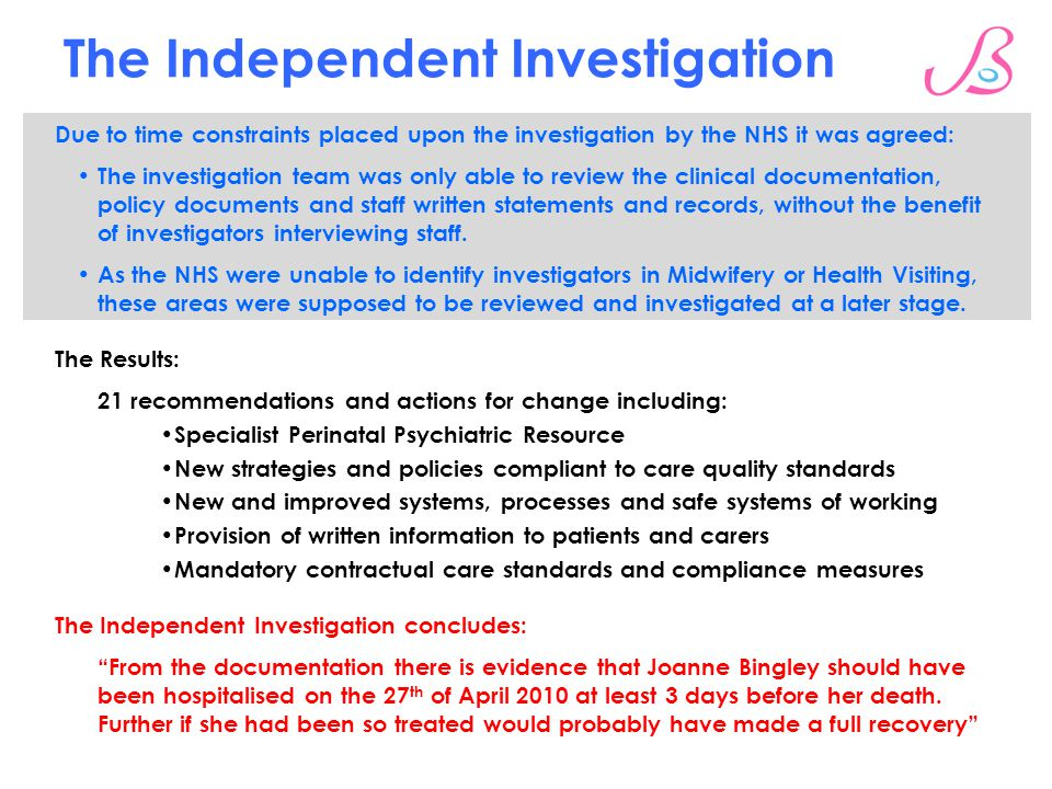 The Independent Investigation