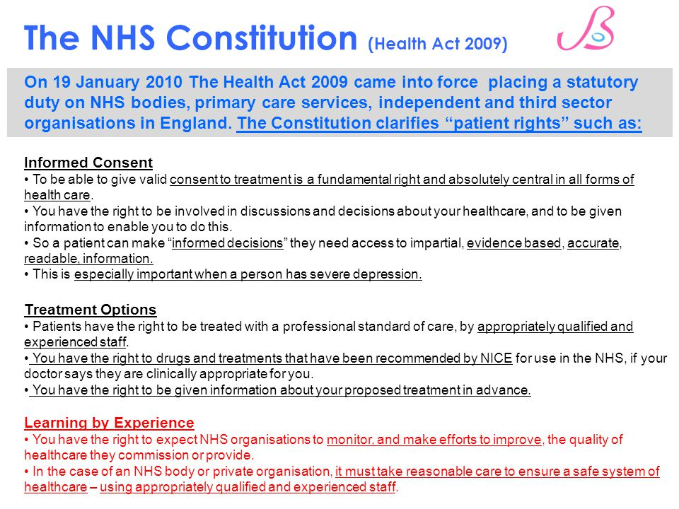Health Care Consent Act  So