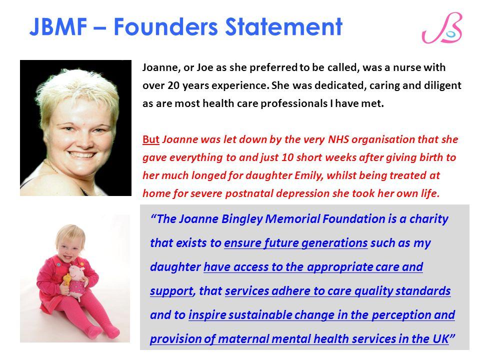 JBMF – Founders Statement