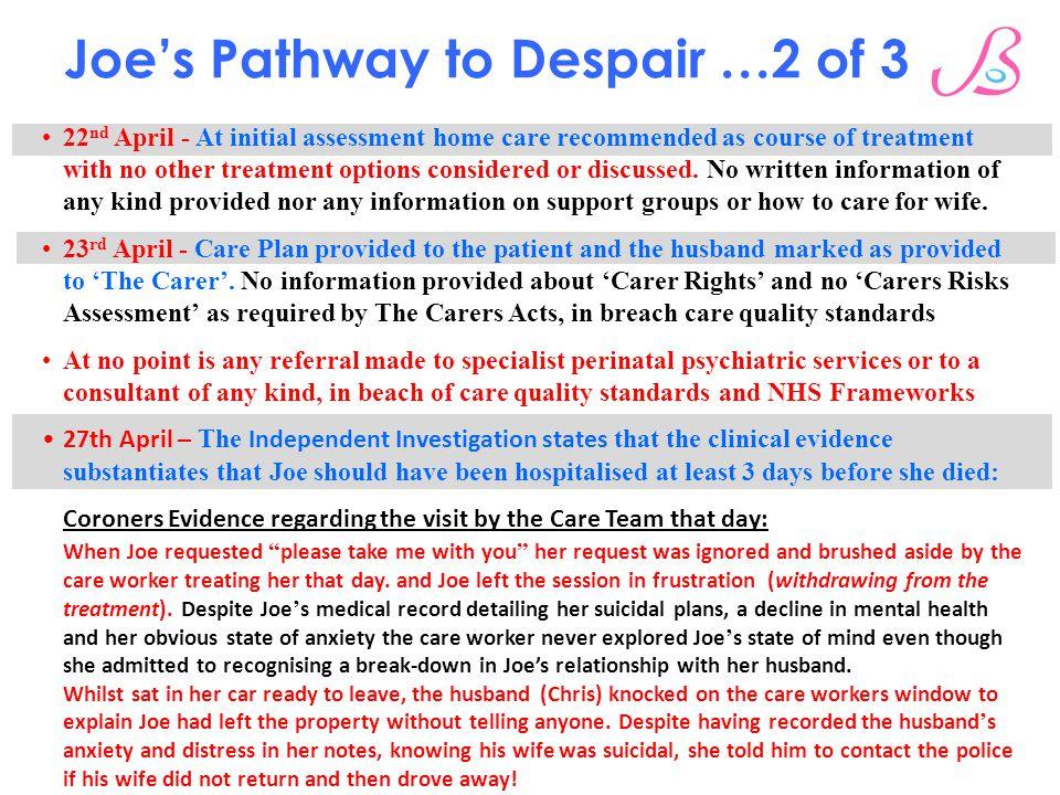 Joe's Pathway to Despair …2 of 3