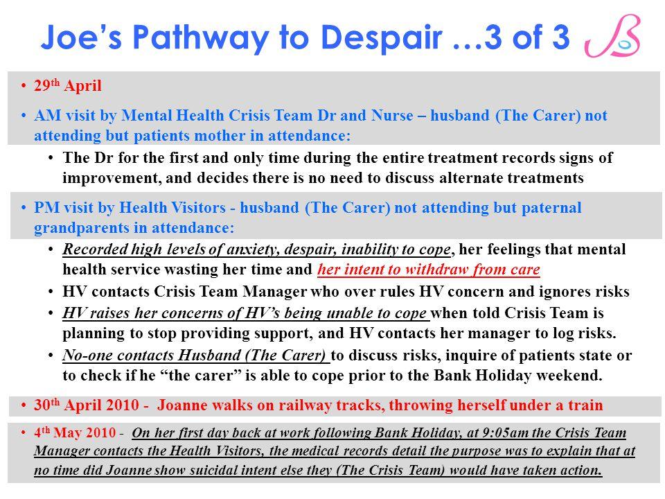 Joe's Pathway to Despair …3 of 3