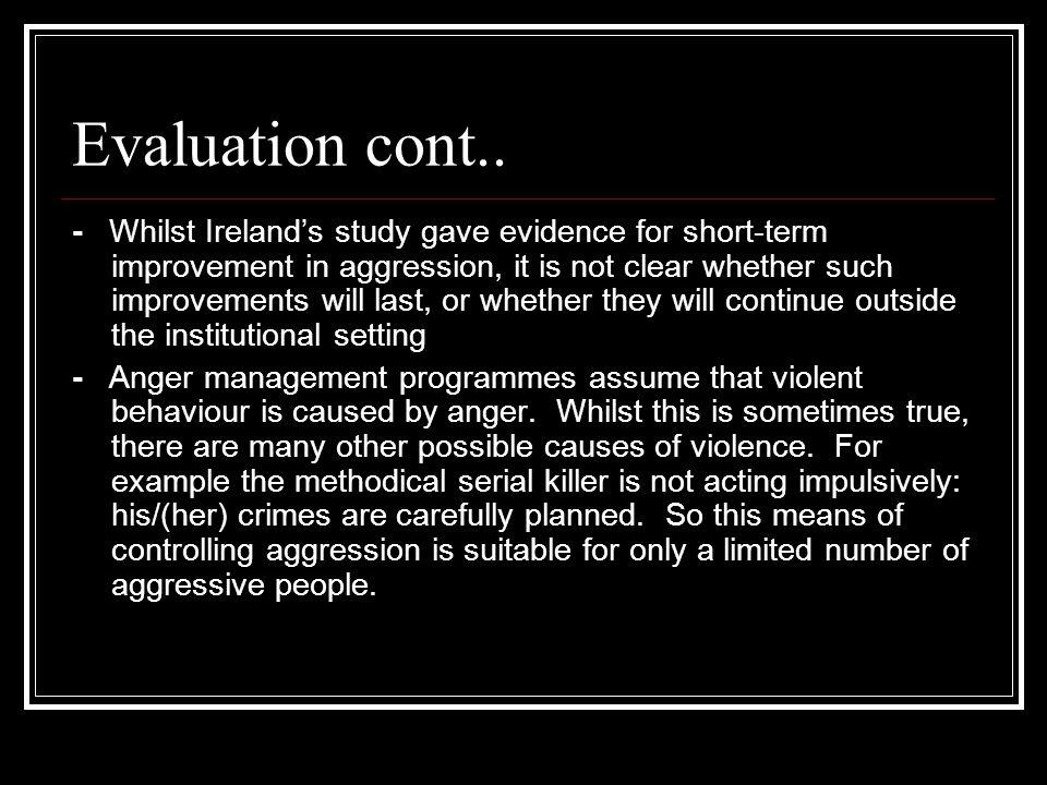 Evaluation cont..