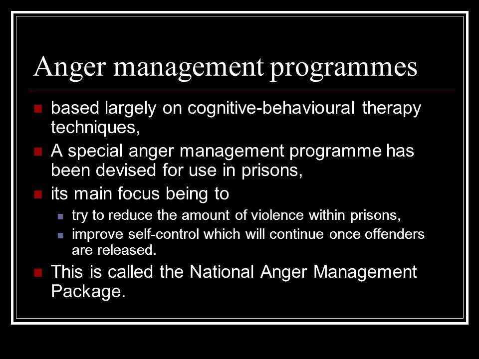 Anger management programmes