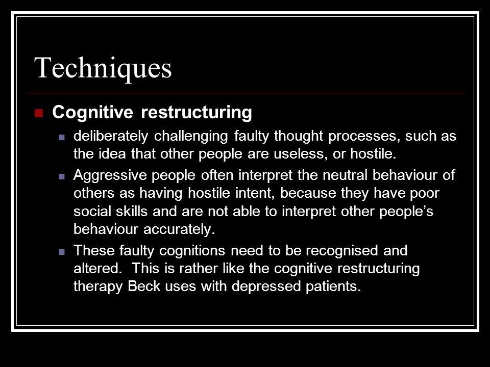 Techniques Cognitive restructuring