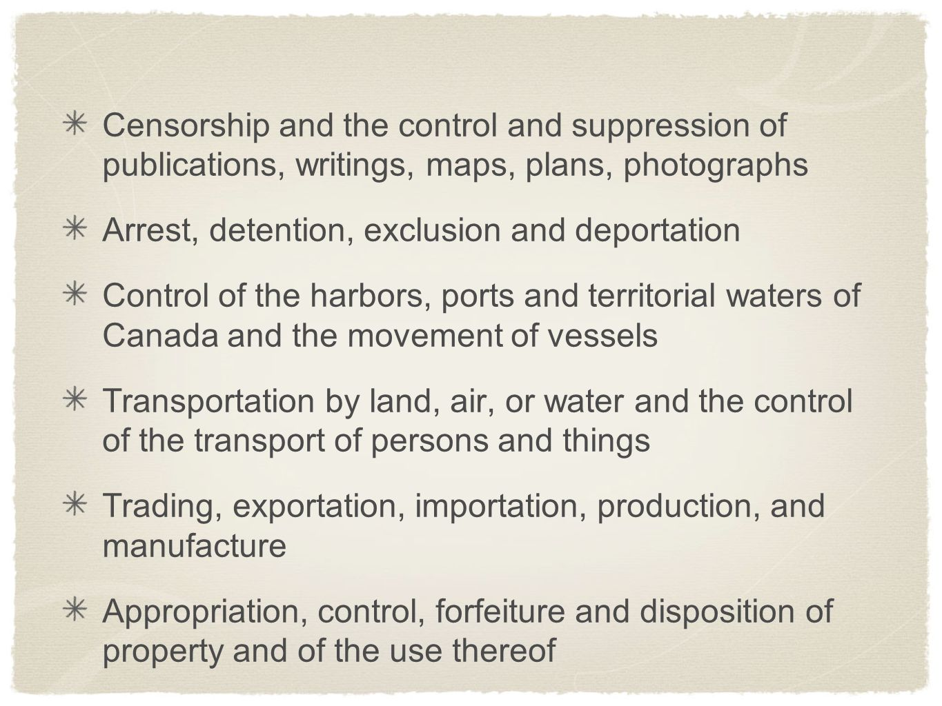 Censorship and the control and suppression of publications, writings, maps, plans, photographs
