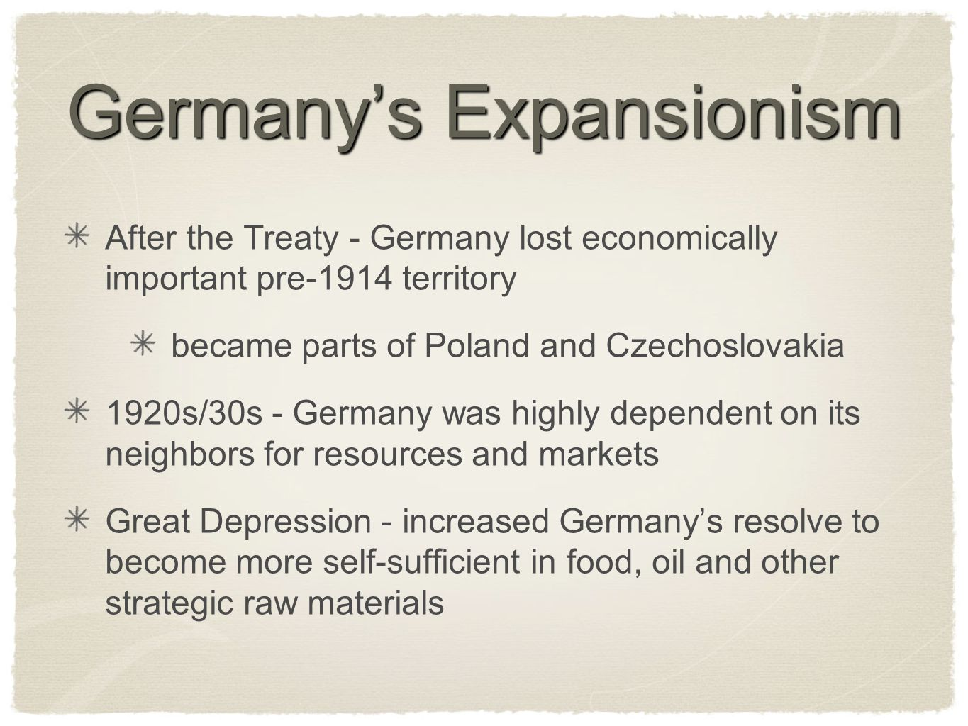 Germany's Expansionism