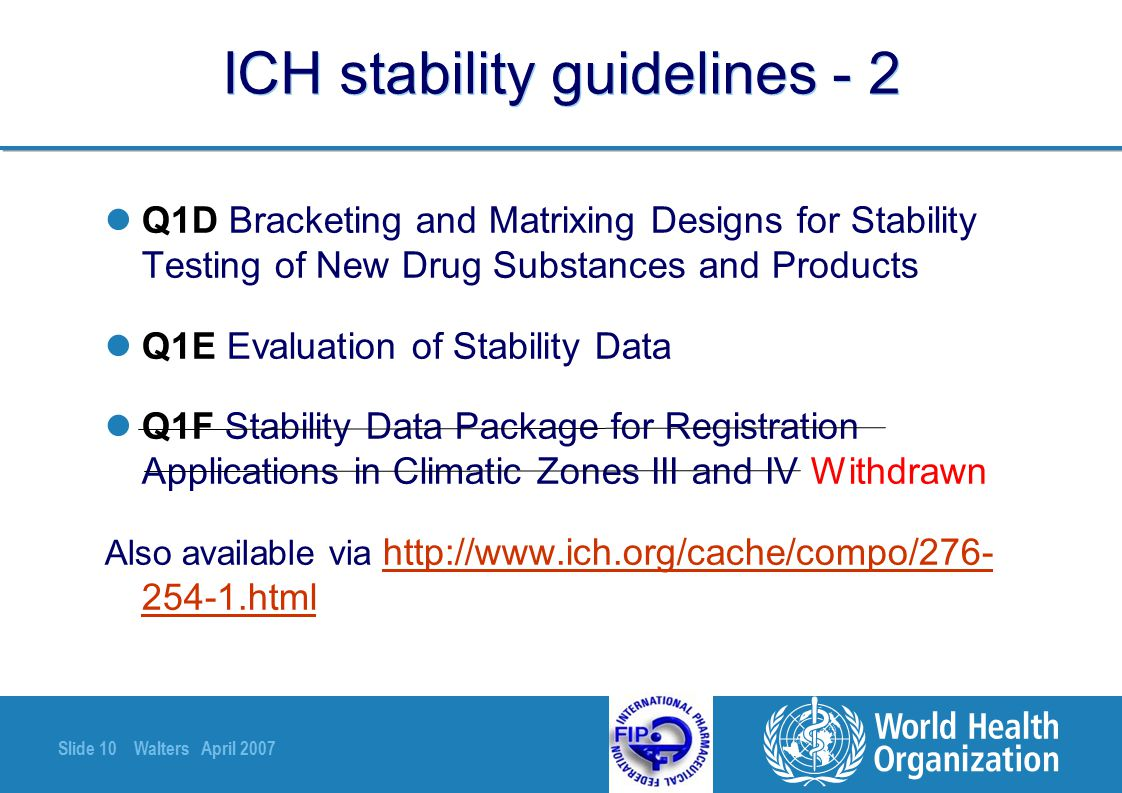ICH stability guidelines - 2