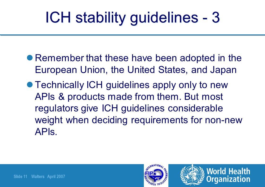 ICH stability guidelines - 3