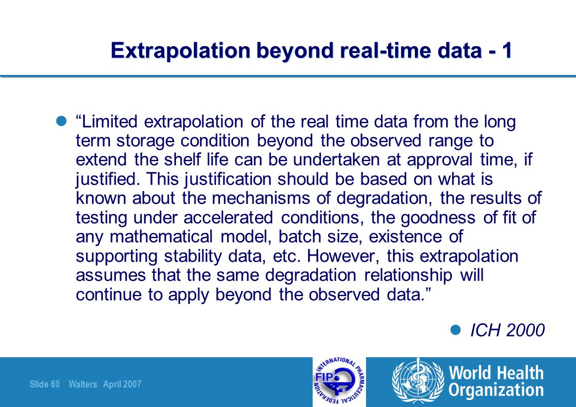 Extrapolation beyond real-time data - 1