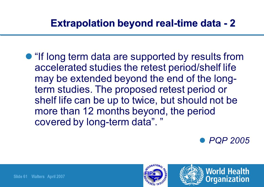 Extrapolation beyond real-time data - 2