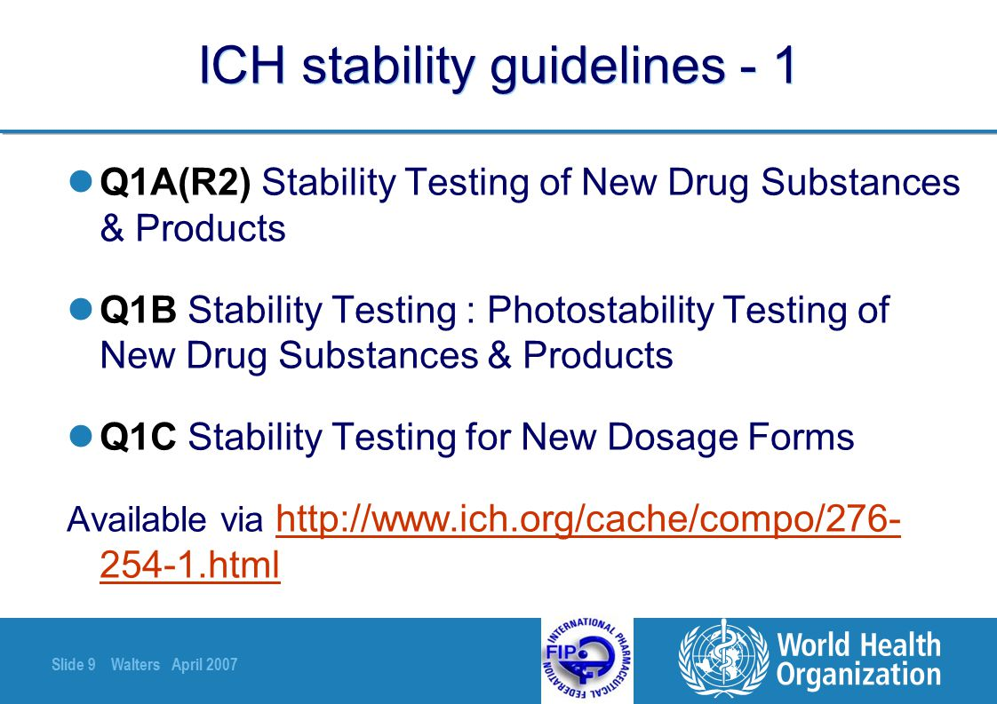 ICH stability guidelines - 1