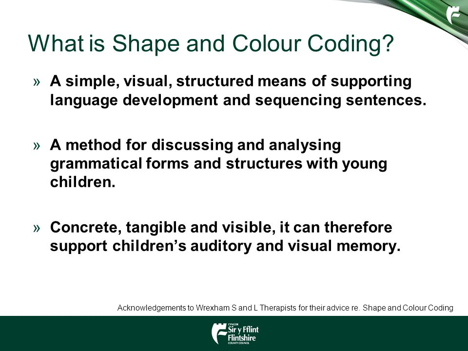 What is Shape and Colour Coding