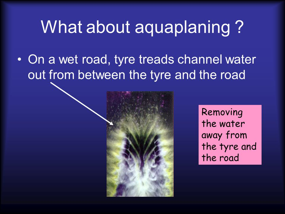 What about aquaplaning