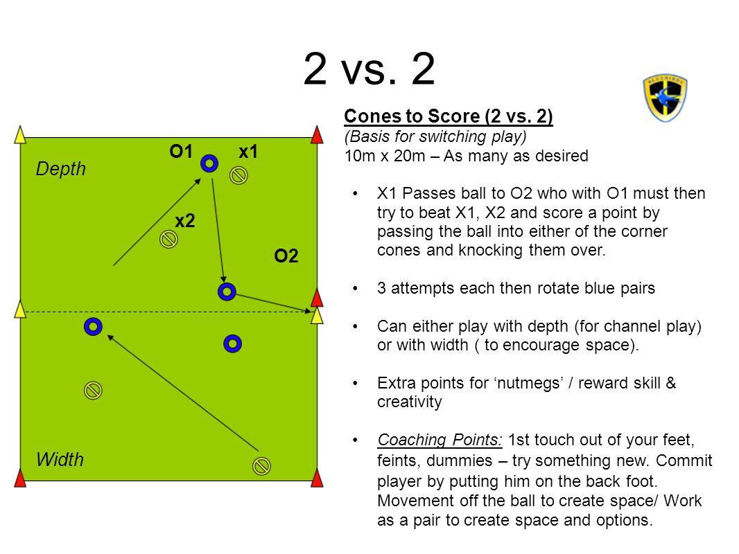 2 vs. 2 Cones to Score (2 vs. 2) O1 x1 Depth x2 O2 Width