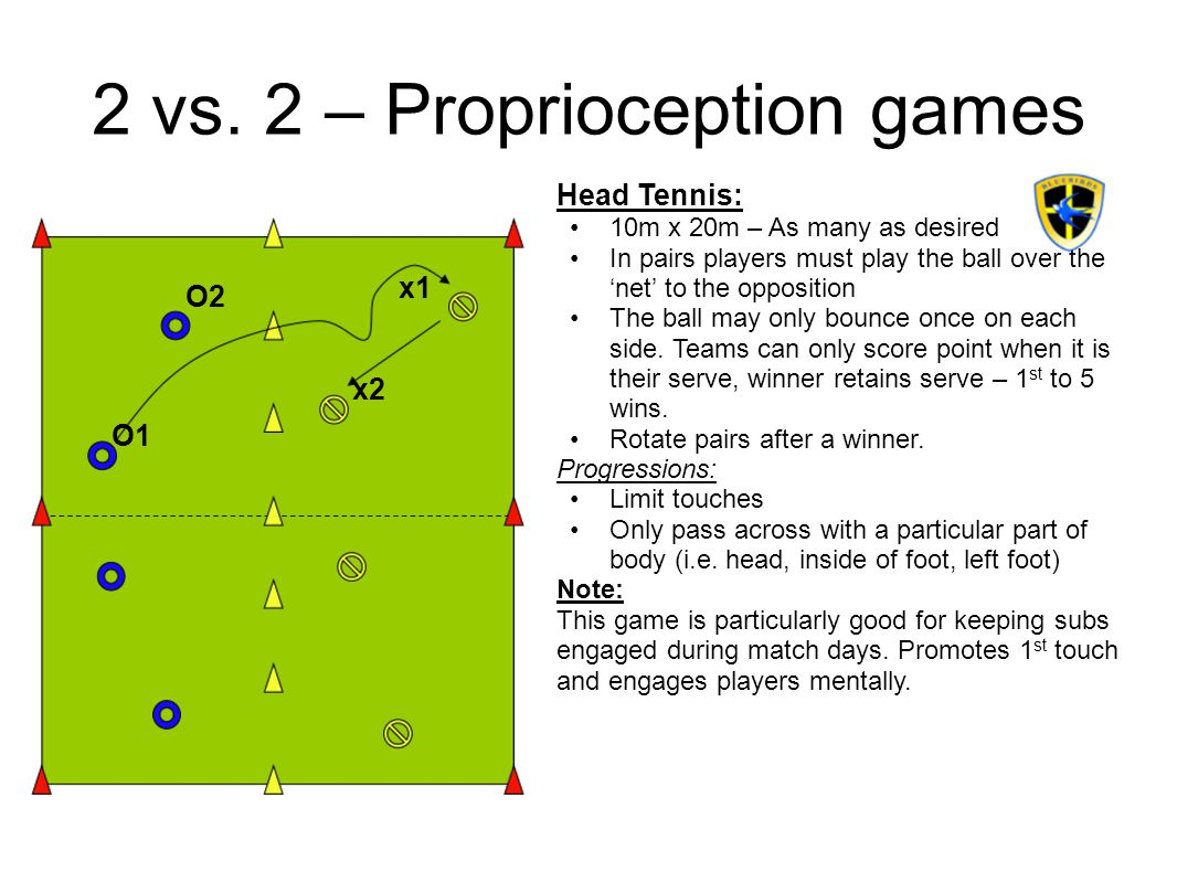 2 vs. 2 – Proprioception games