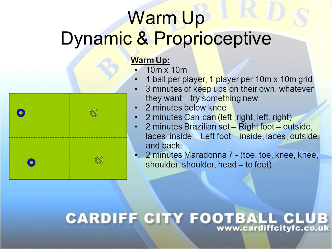 Warm Up Dynamic & Proprioceptive