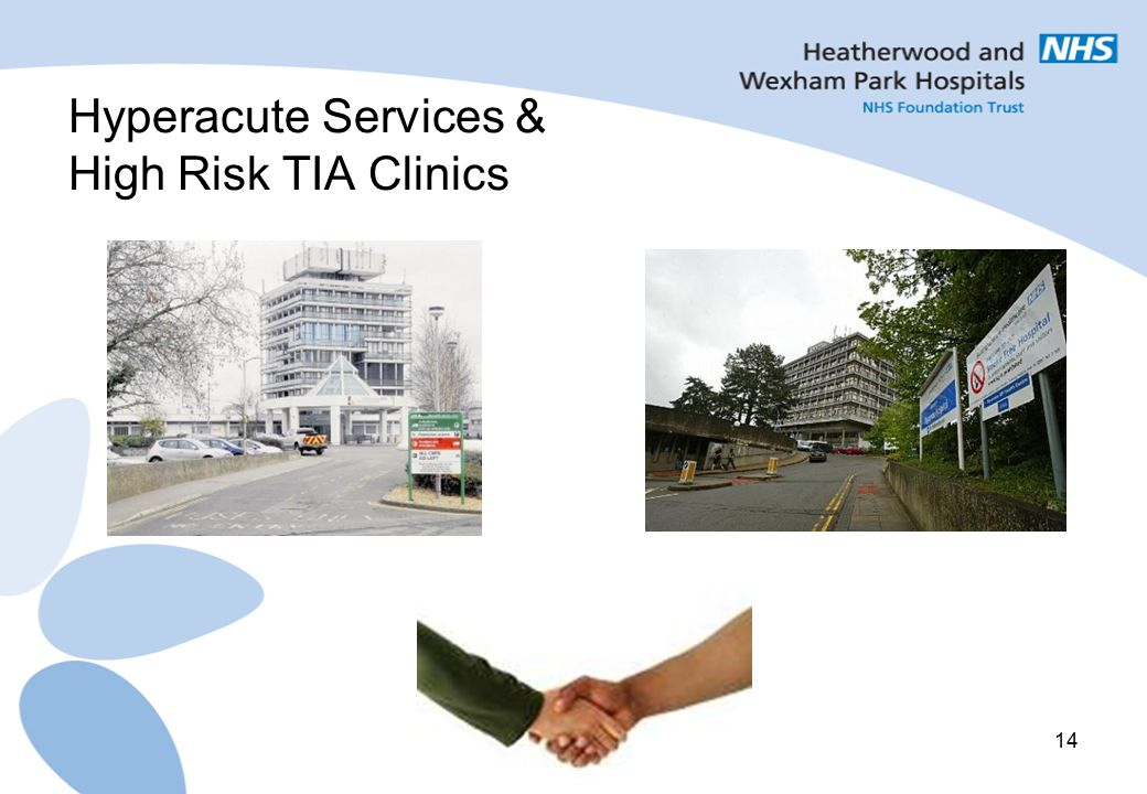 Hyperacute Services & High Risk TIA Clinics