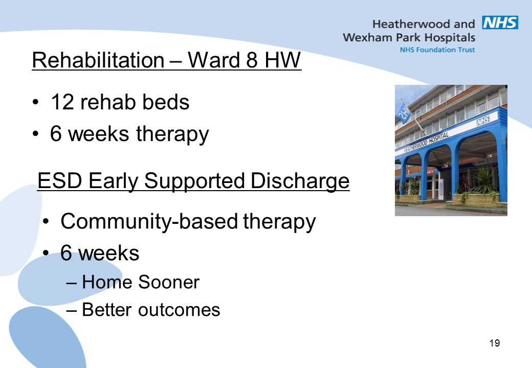 Rehabilitation – Ward 8 HW