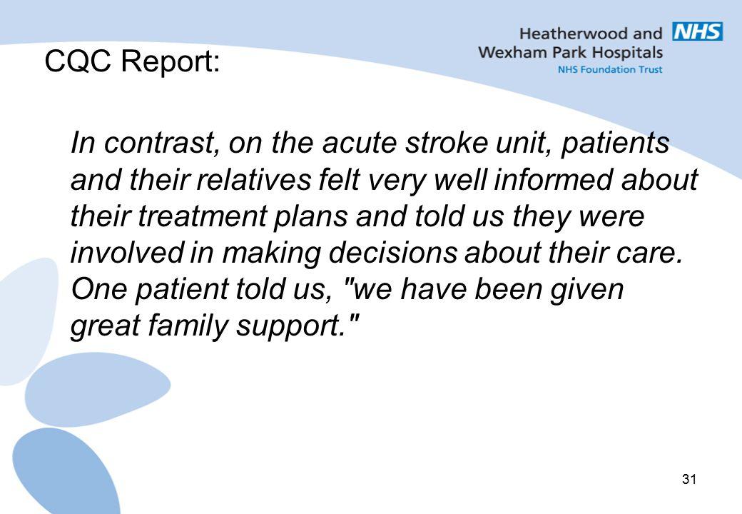 CQC Report: