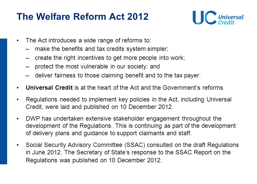 Why do we need Universal Credit