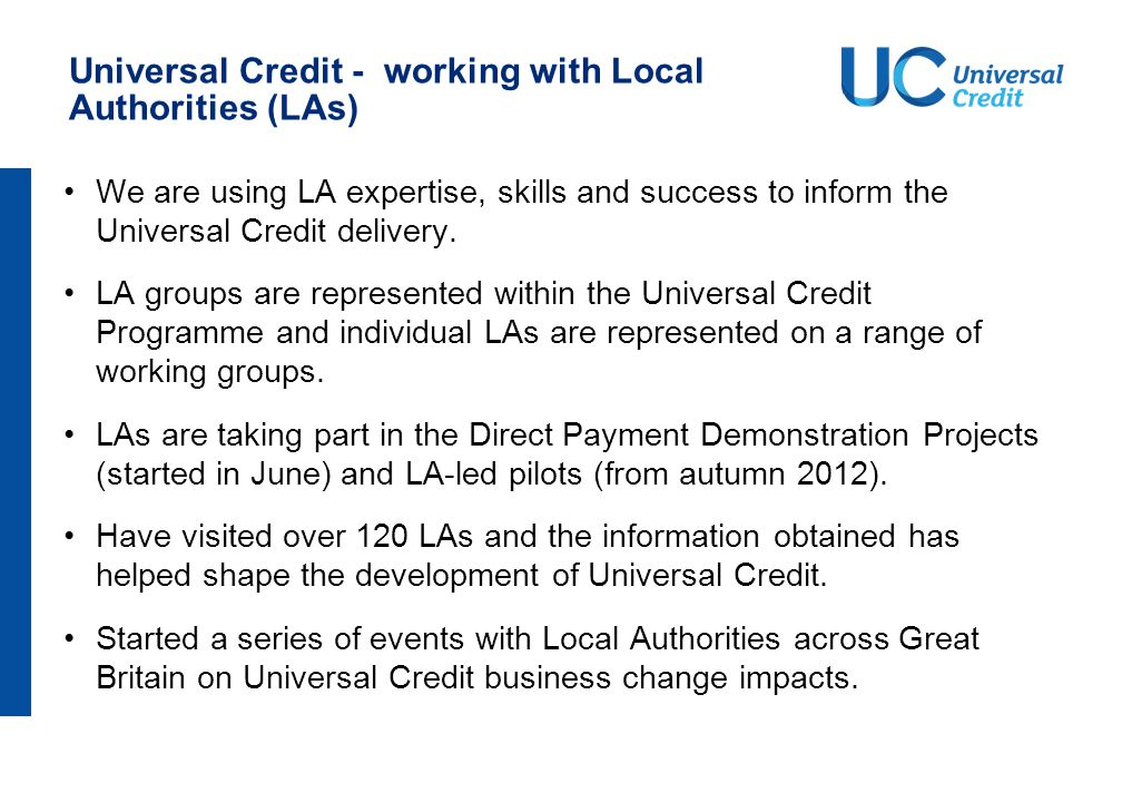 Universal Credit – working with HMRC