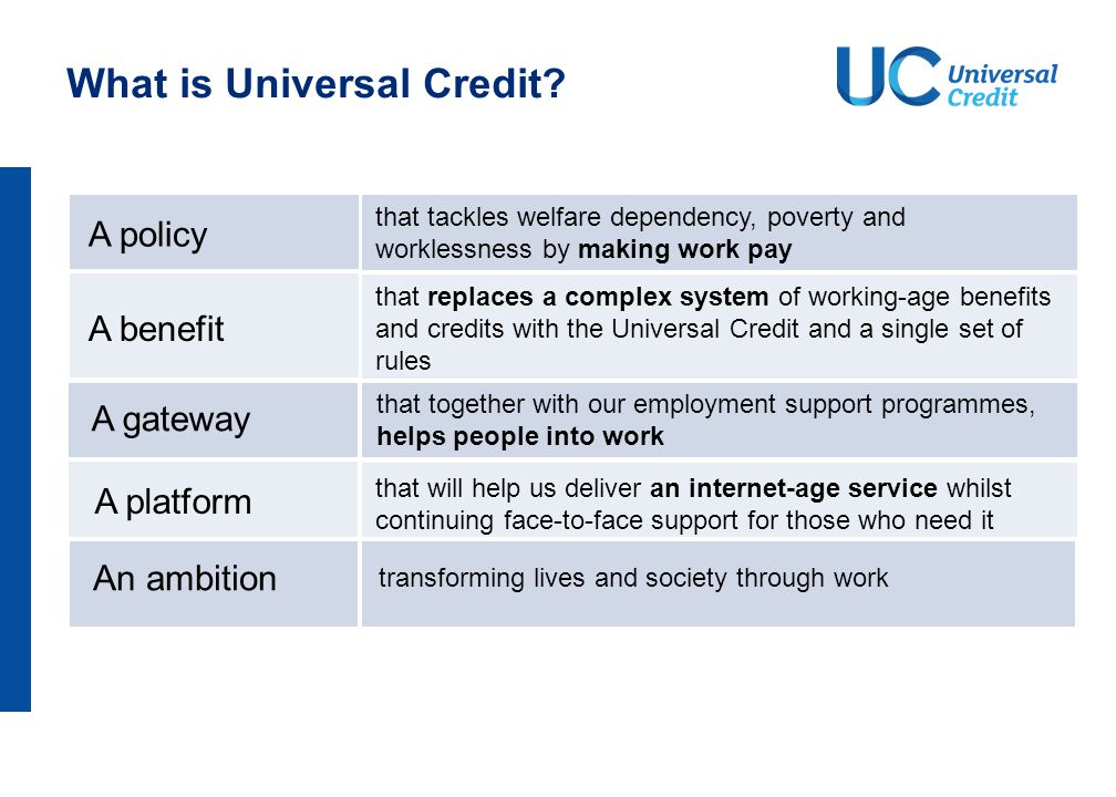 How is Universal Credit different