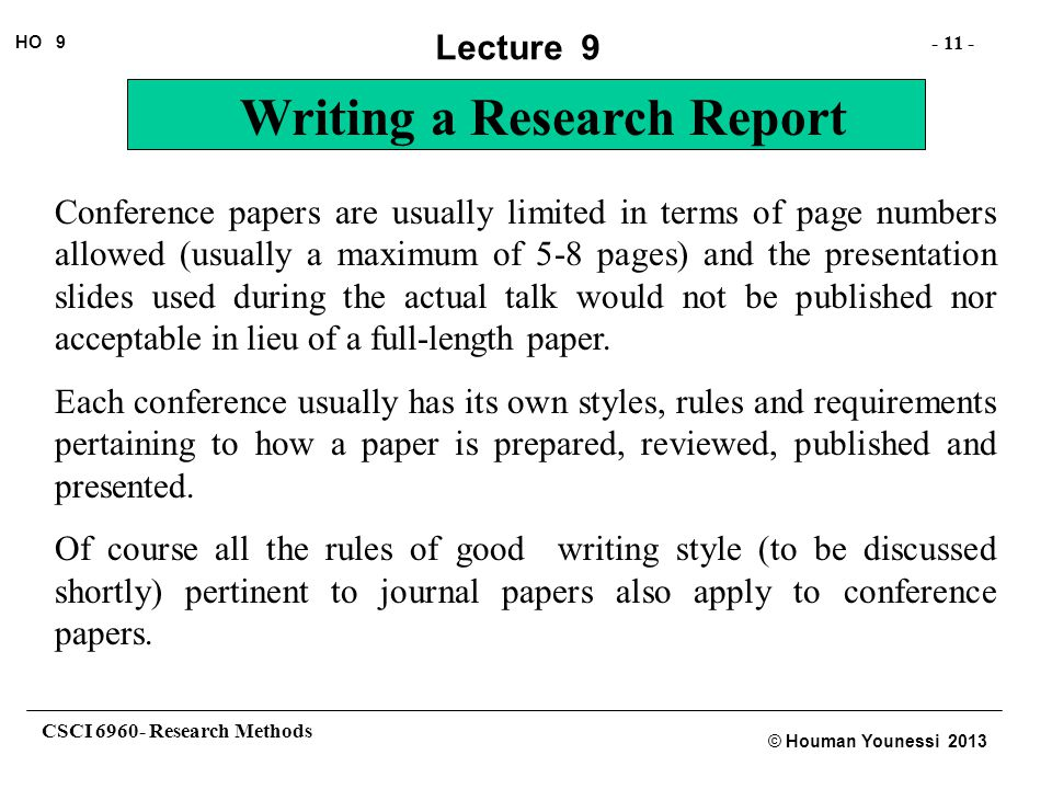 Conference papers are usually limited in terms of page numbers allowed (usually a maximum of 5-8 pages) and the presentation slides used during the actual talk would not be published nor acceptable in lieu of a full-length paper.