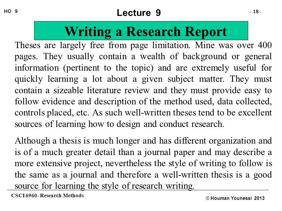 dissertation delimitations