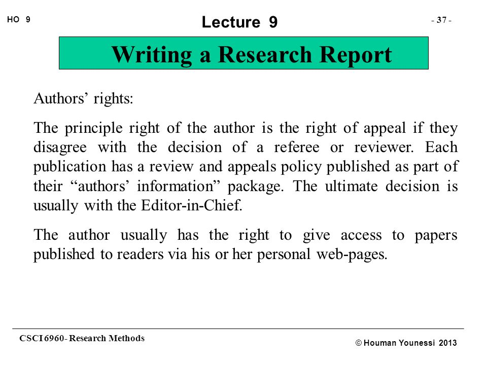 Authors' rights: