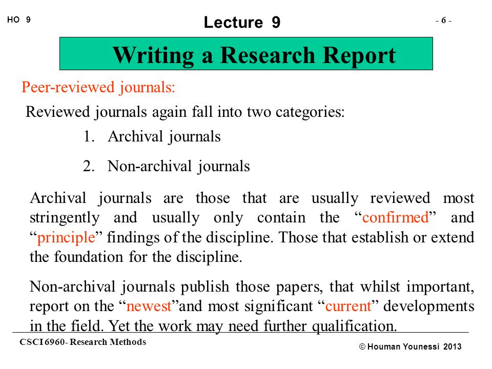 Peer-reviewed journals: