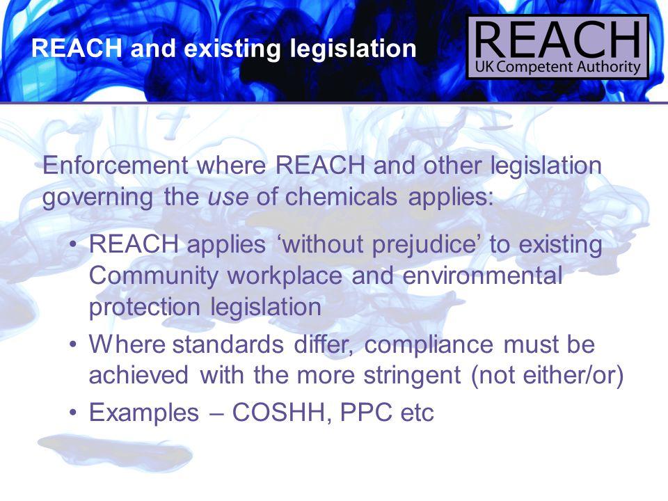 REACH and existing legislation