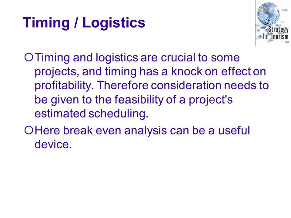 Timing / Logistics