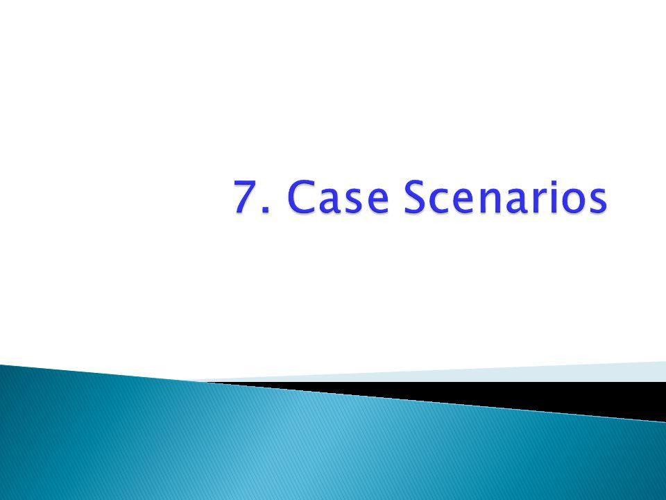 7. Case Scenarios
