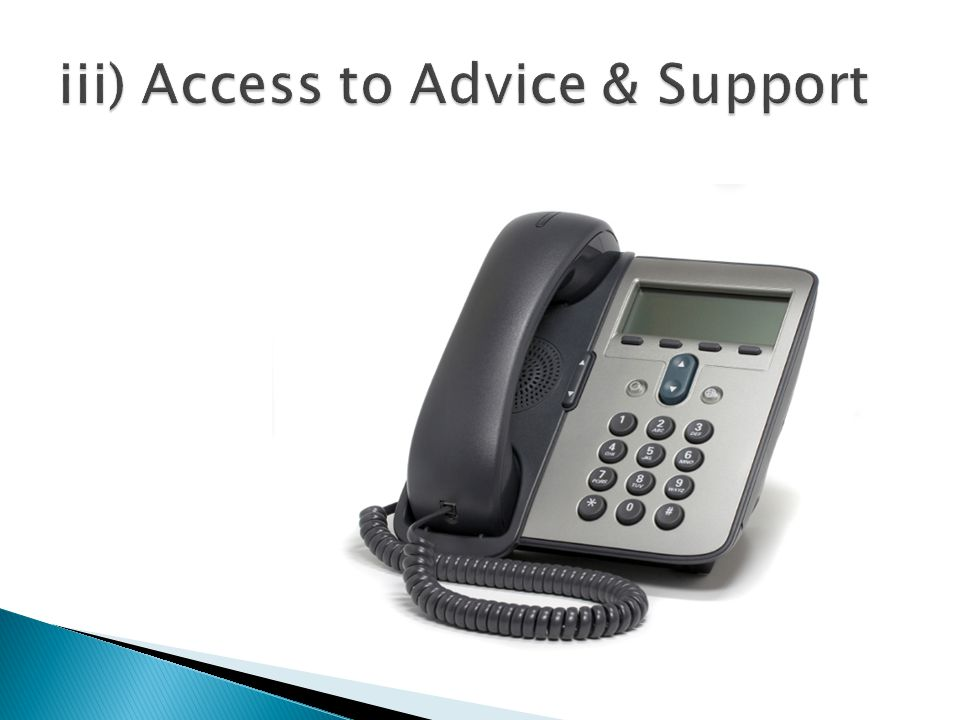 iii) Access to Advice & Support