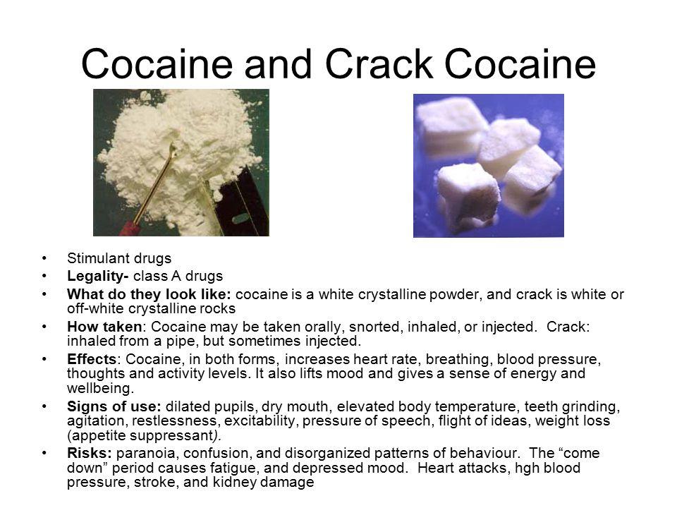 Cocaine and Crack Cocaine