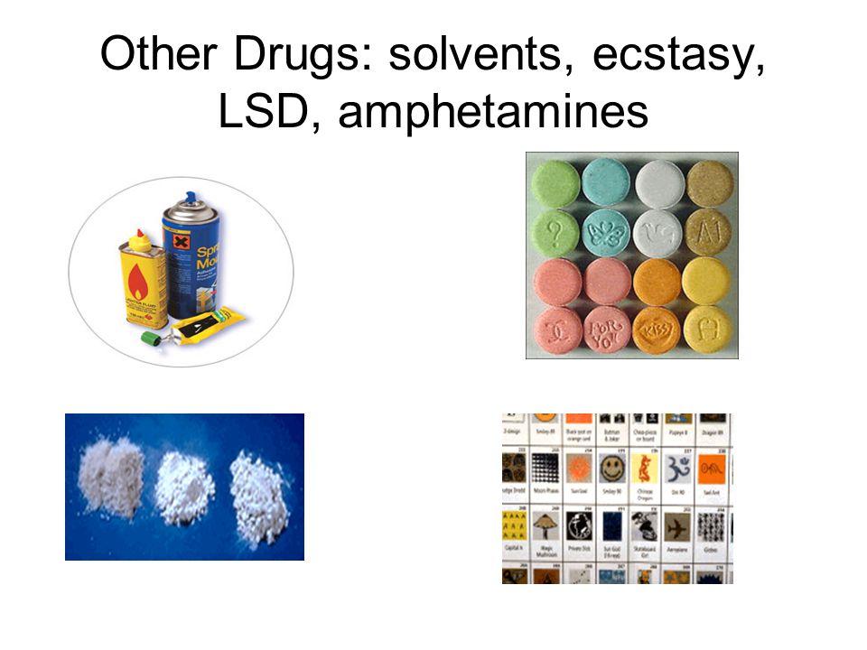 Other Drugs: solvents, ecstasy, LSD, amphetamines