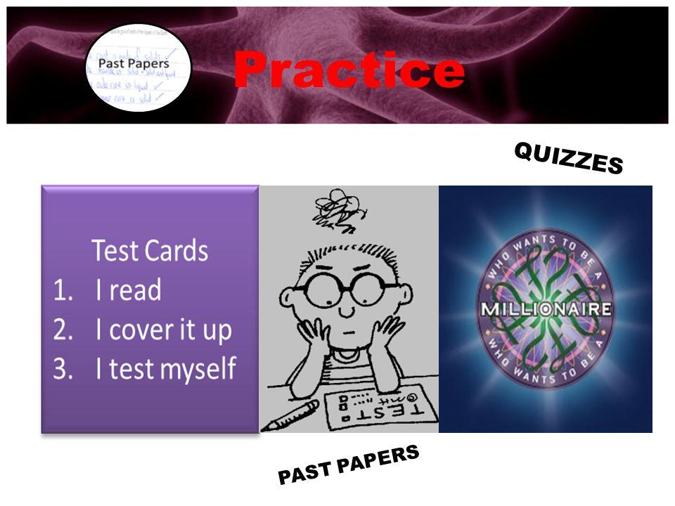 Practice QUIZZES PAST PAPERS