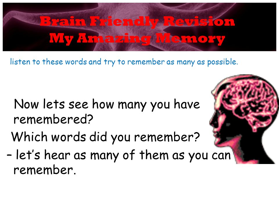 Brain Friendly Revision My Amazing Memory