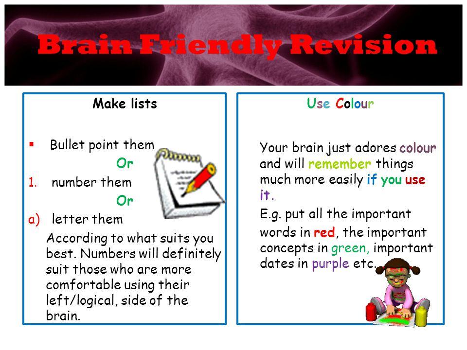Brain Friendly Revision