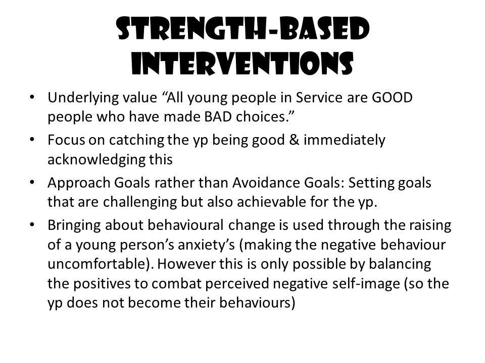 Strength-based interventions