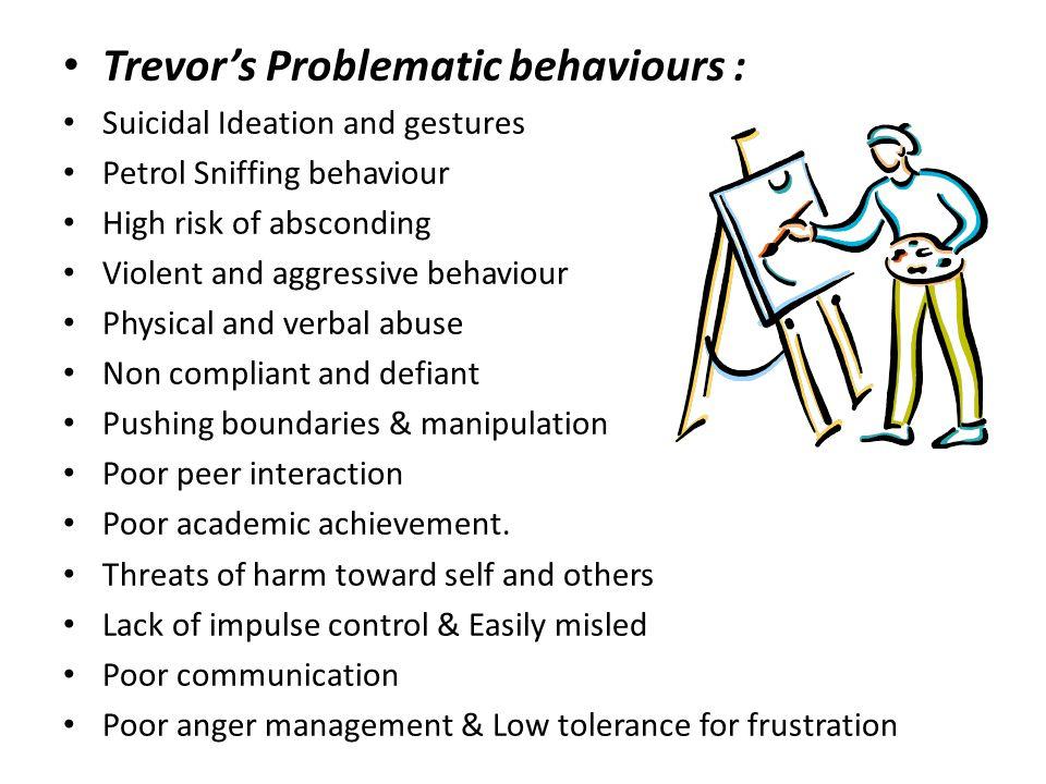 Trevor's Problematic behaviours :