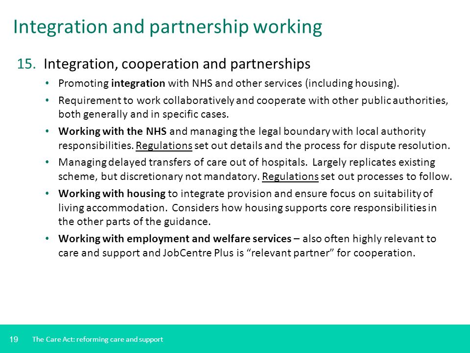 Integration and partnership working