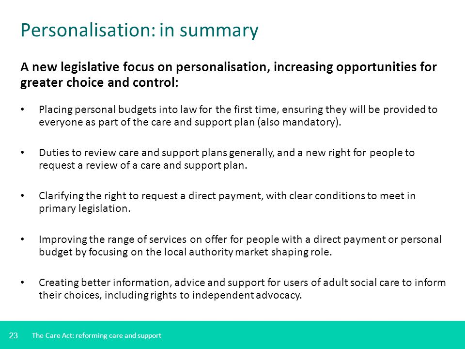 Personalisation: in summary