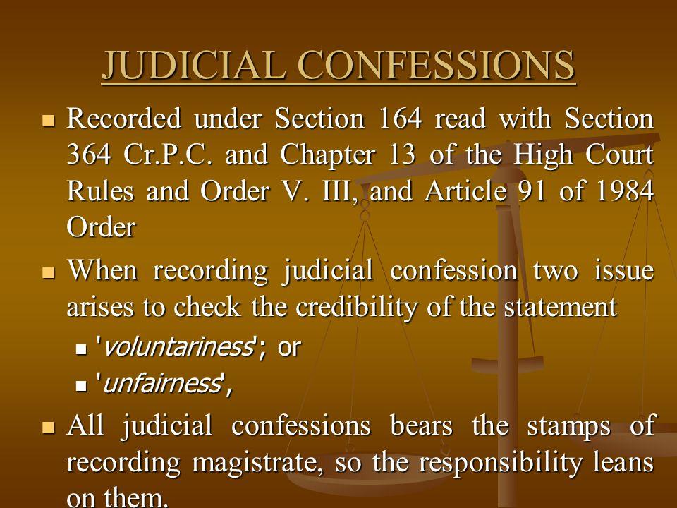 JUDICIAL CONFESSIONS